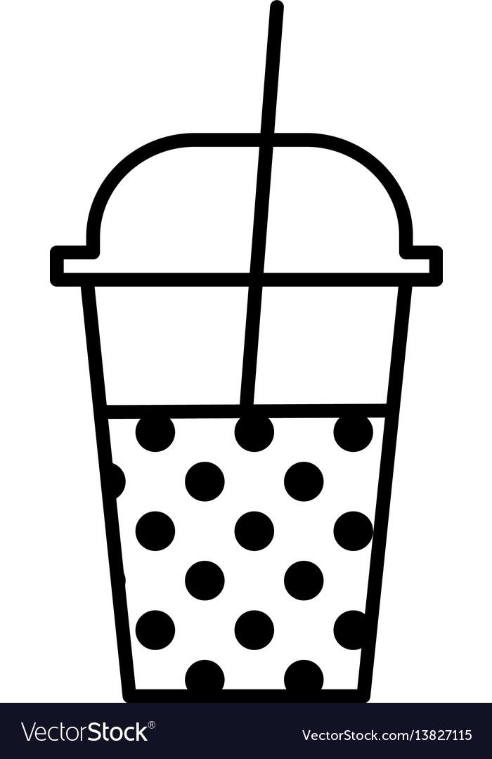 Milkshake outline icon