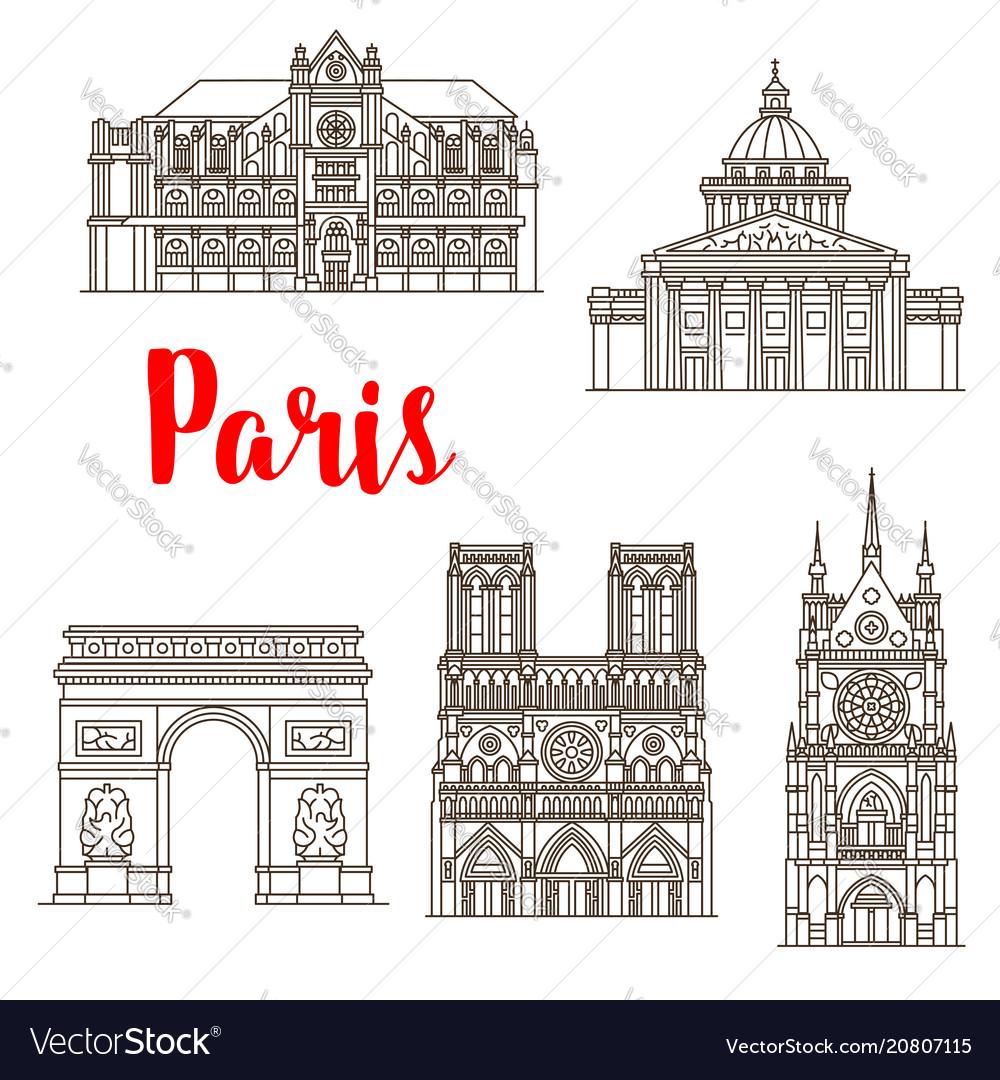 Paris famous landmarks buildings icons