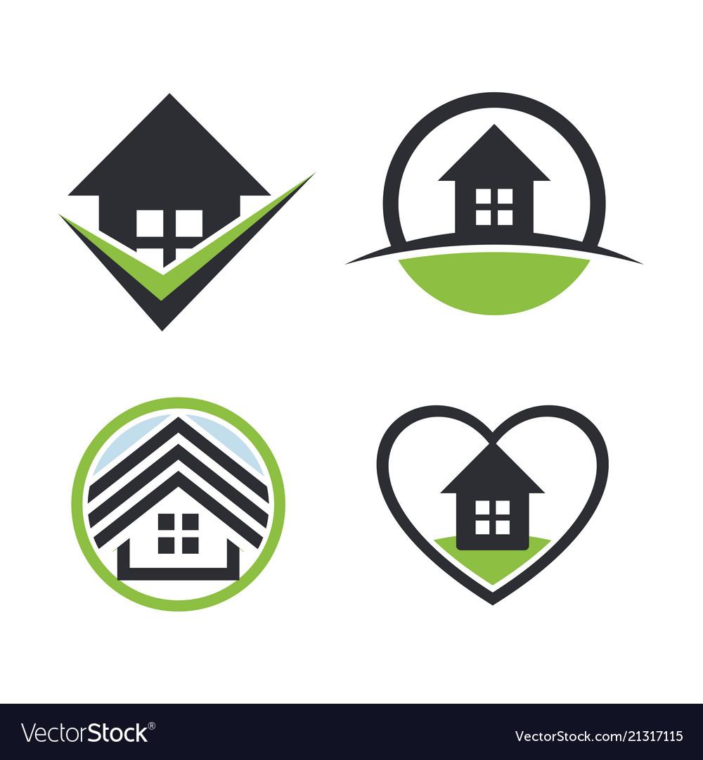 Real estate logo sethouse rent icon sweet home