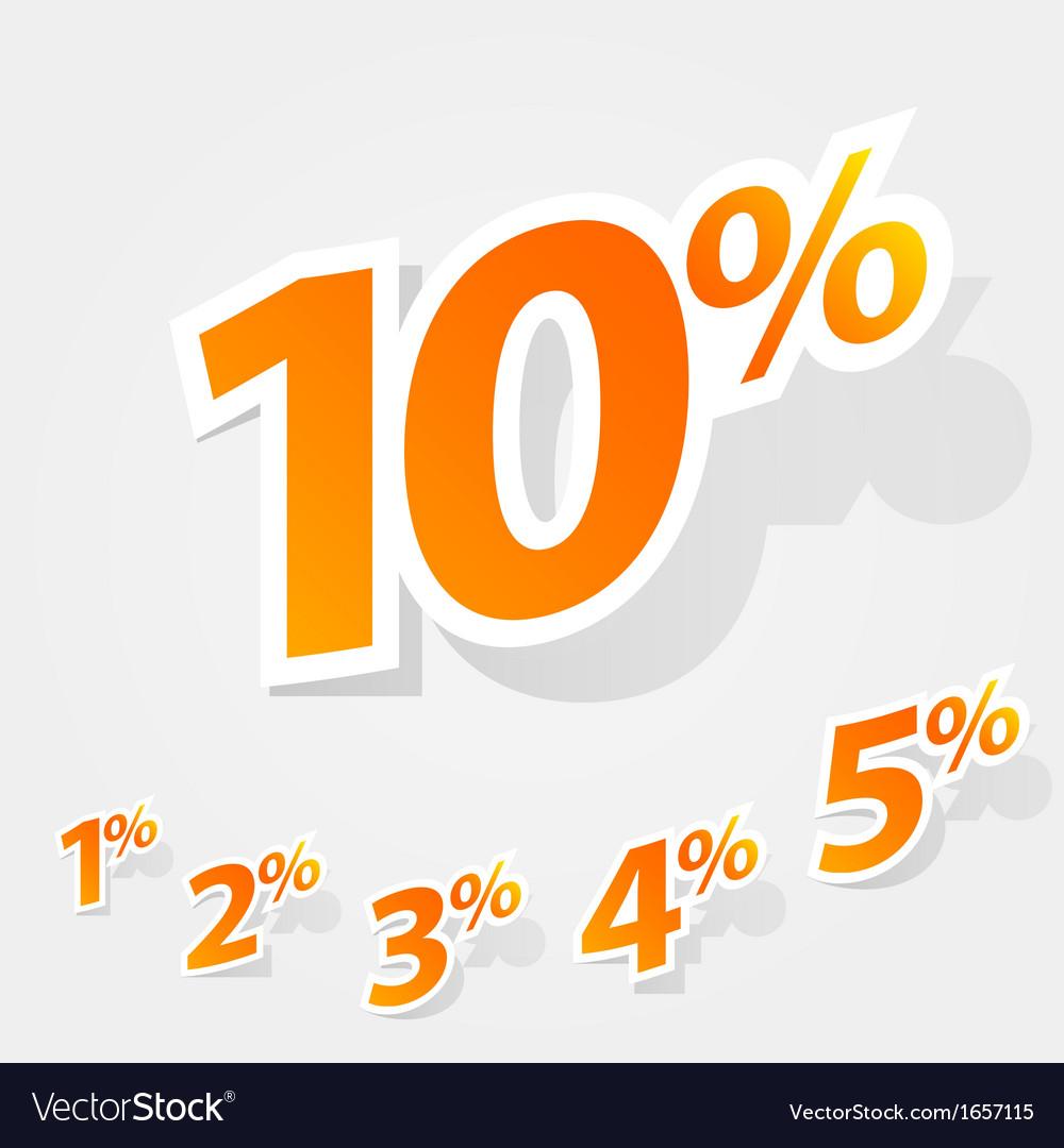 Set of labels percent