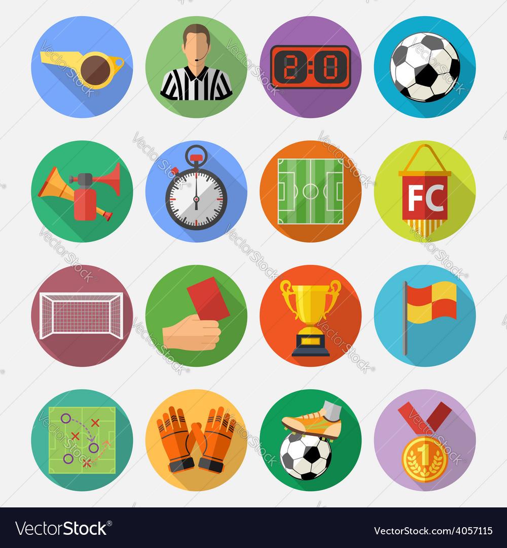 Soccer Flat Icon Set