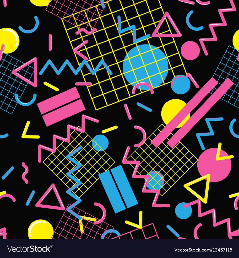 Stylish memphis seamless pattern