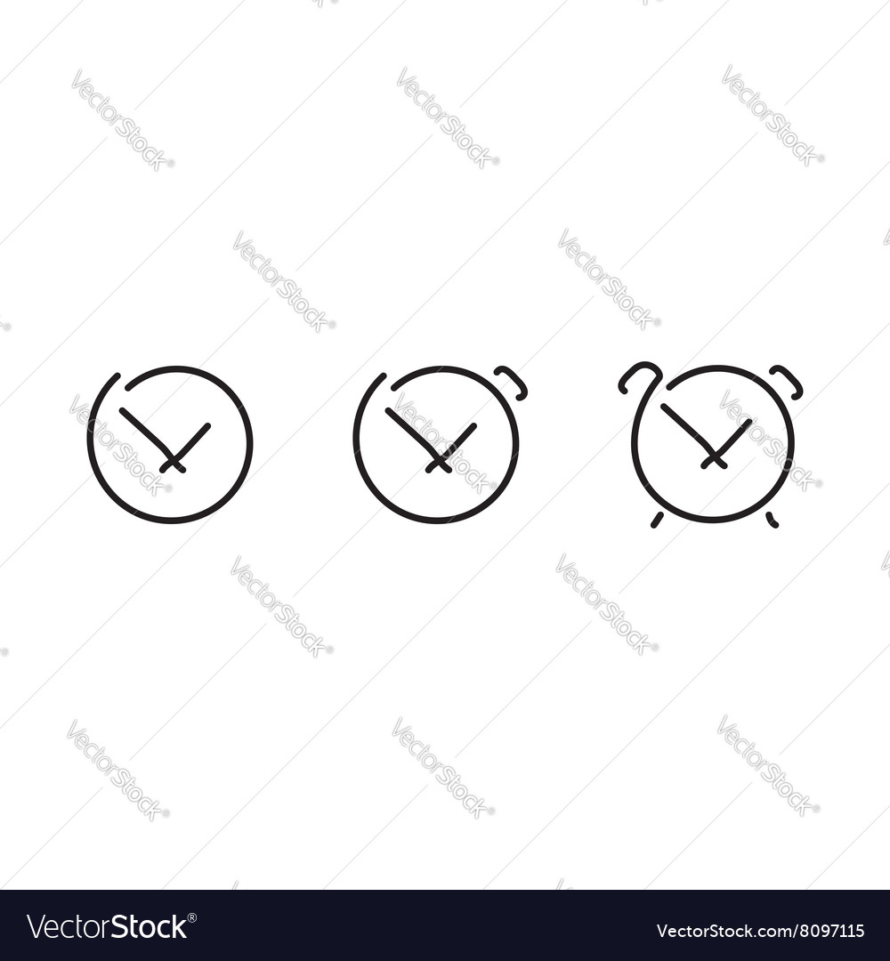 Time set icons