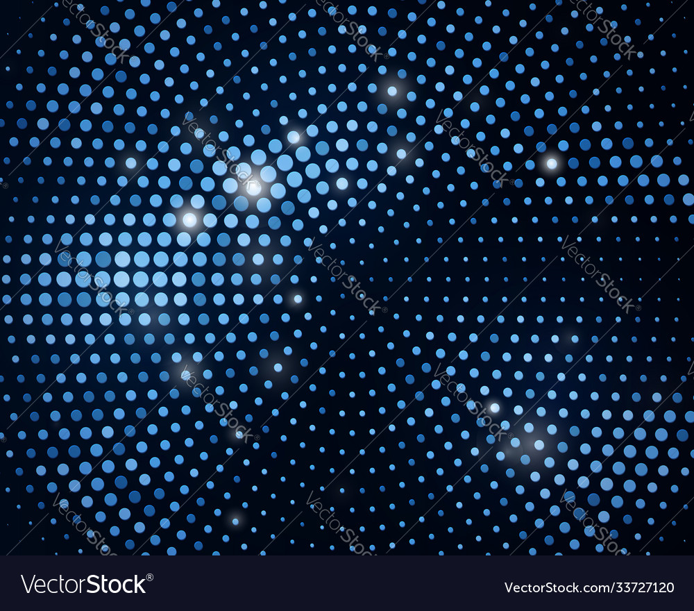 Abstract black background with retro blue glitter