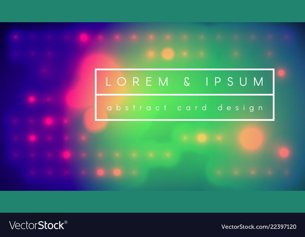 Abstract digital fluid modern poster