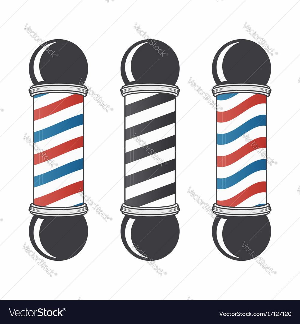 Barber shop pole set vintage barber shop sign