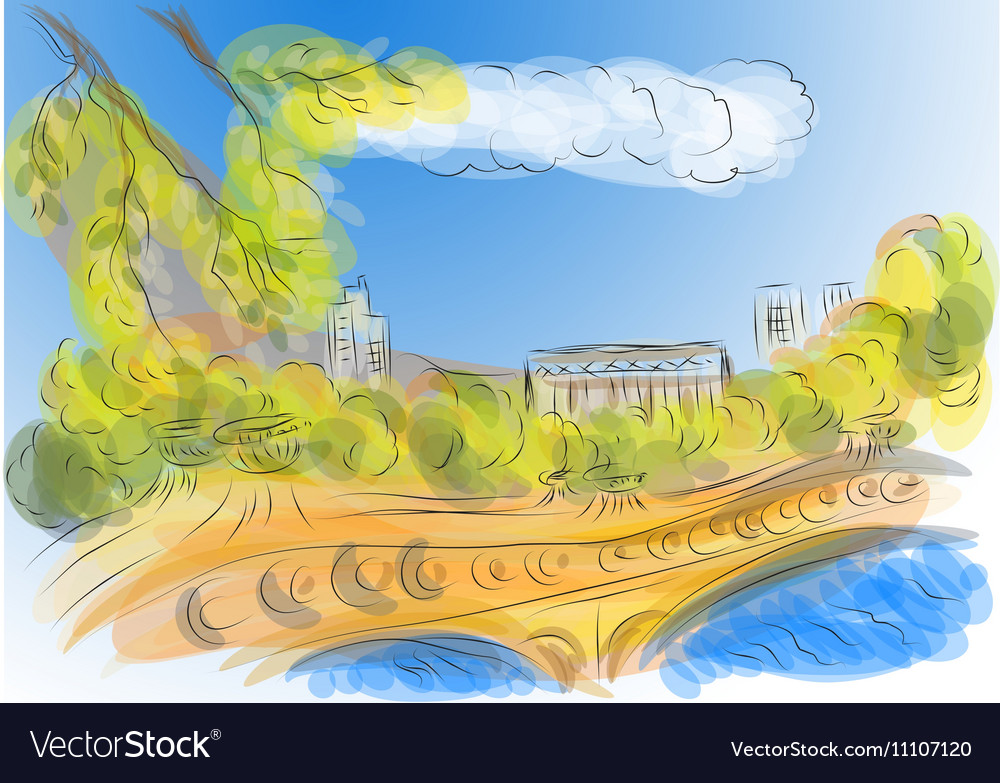 Central park vector image