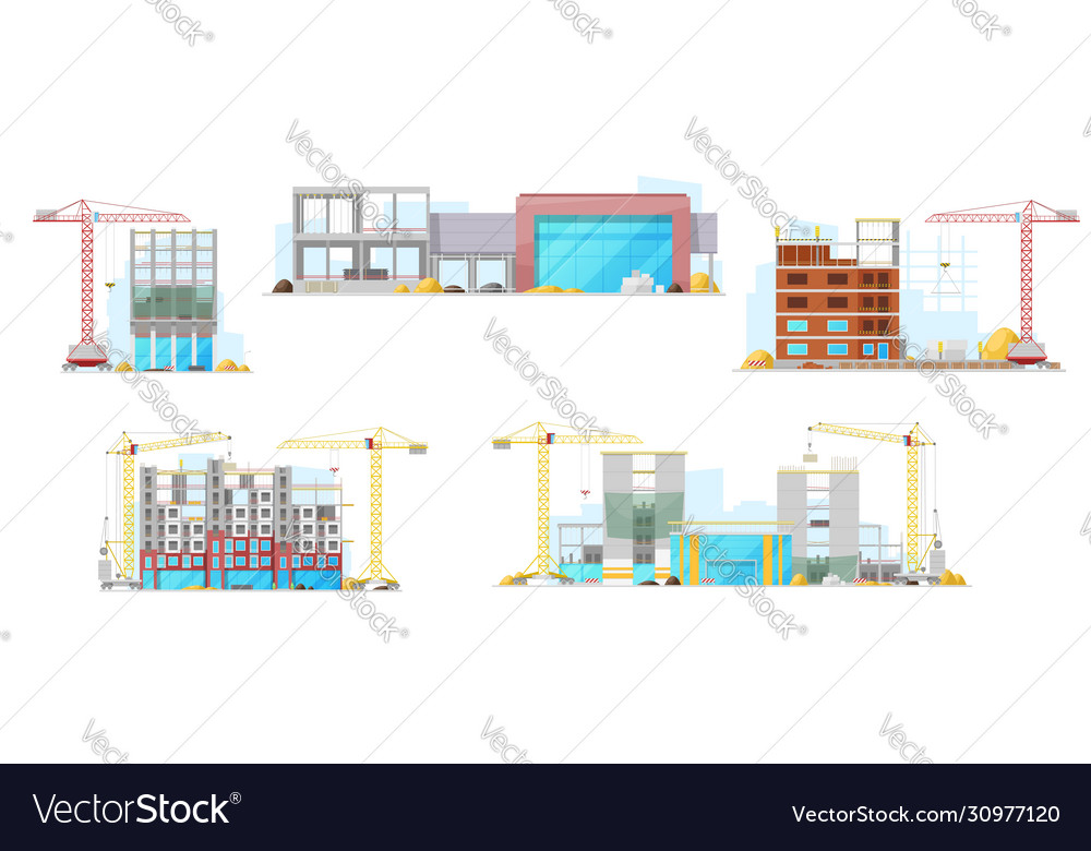 Construction site residential houses building