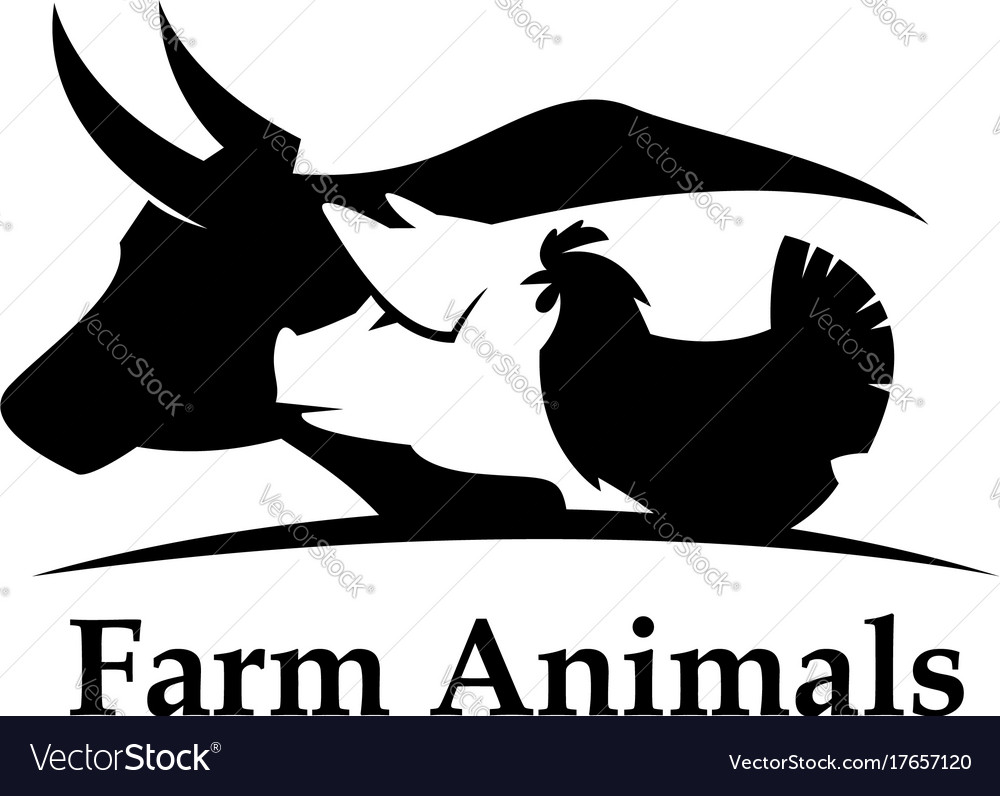 Farm animals label