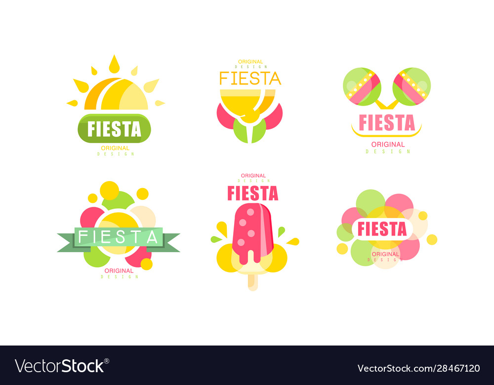 Fiesta logo and labels original design set