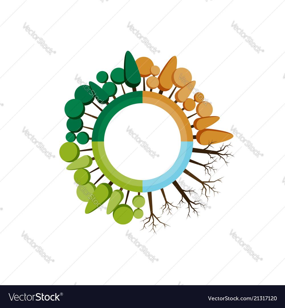 Four seasons icon tree