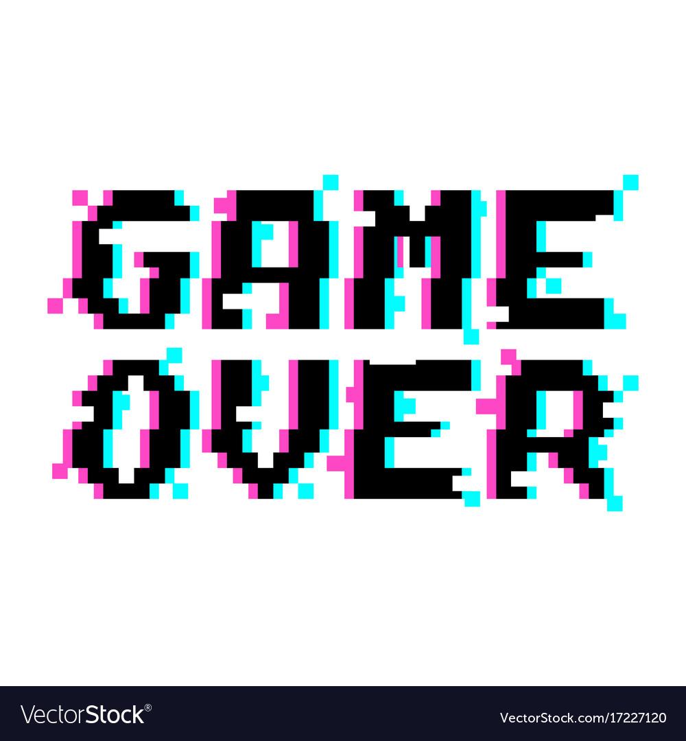 Game over pixel glitch