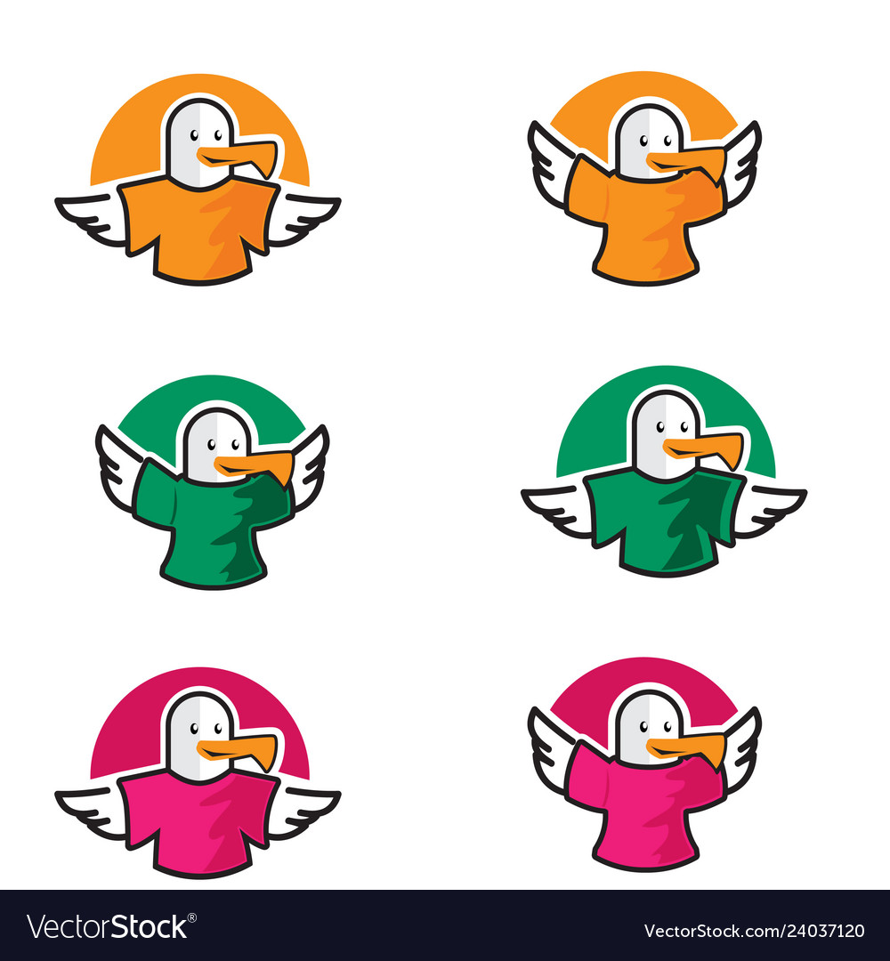 Logo icon birds wear t-shirt