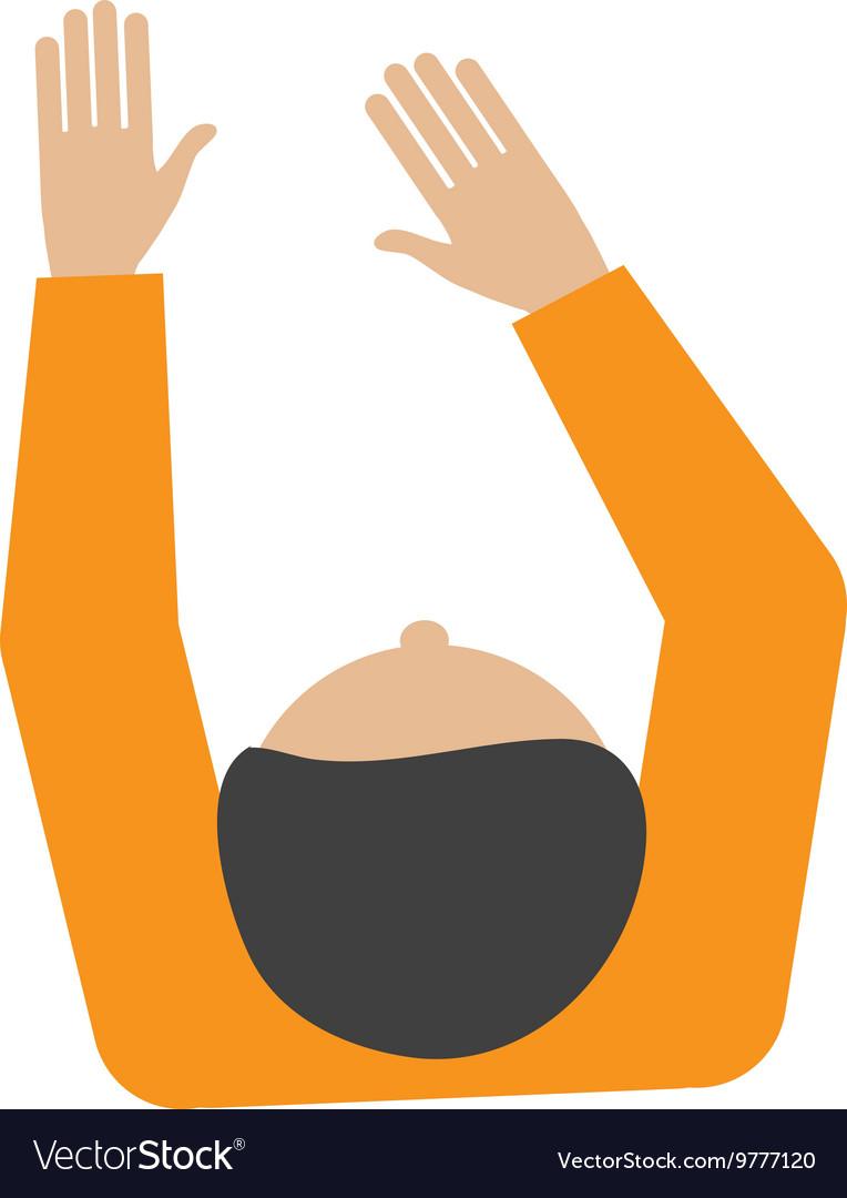 Man sitting topview icon vector image