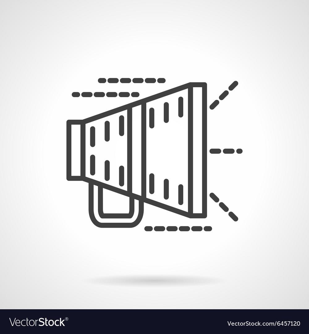 Megaphone black line icon
