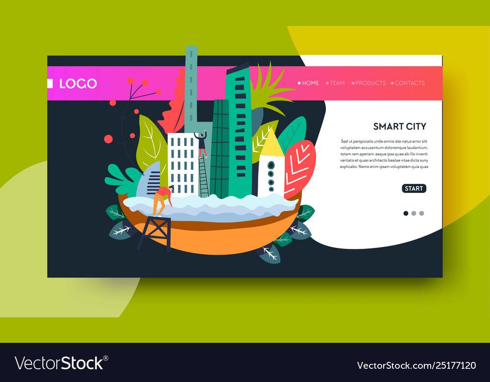 Smart city modern technology online web page