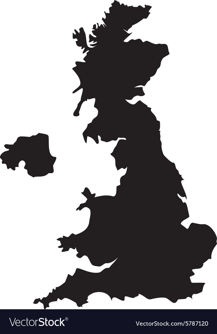 Uk Map Vector UK map Royalty Free Vector Image   VectorStock