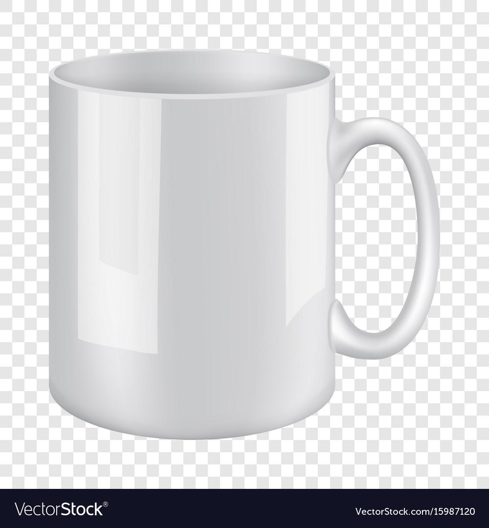 white mug mockup realistic style vector image