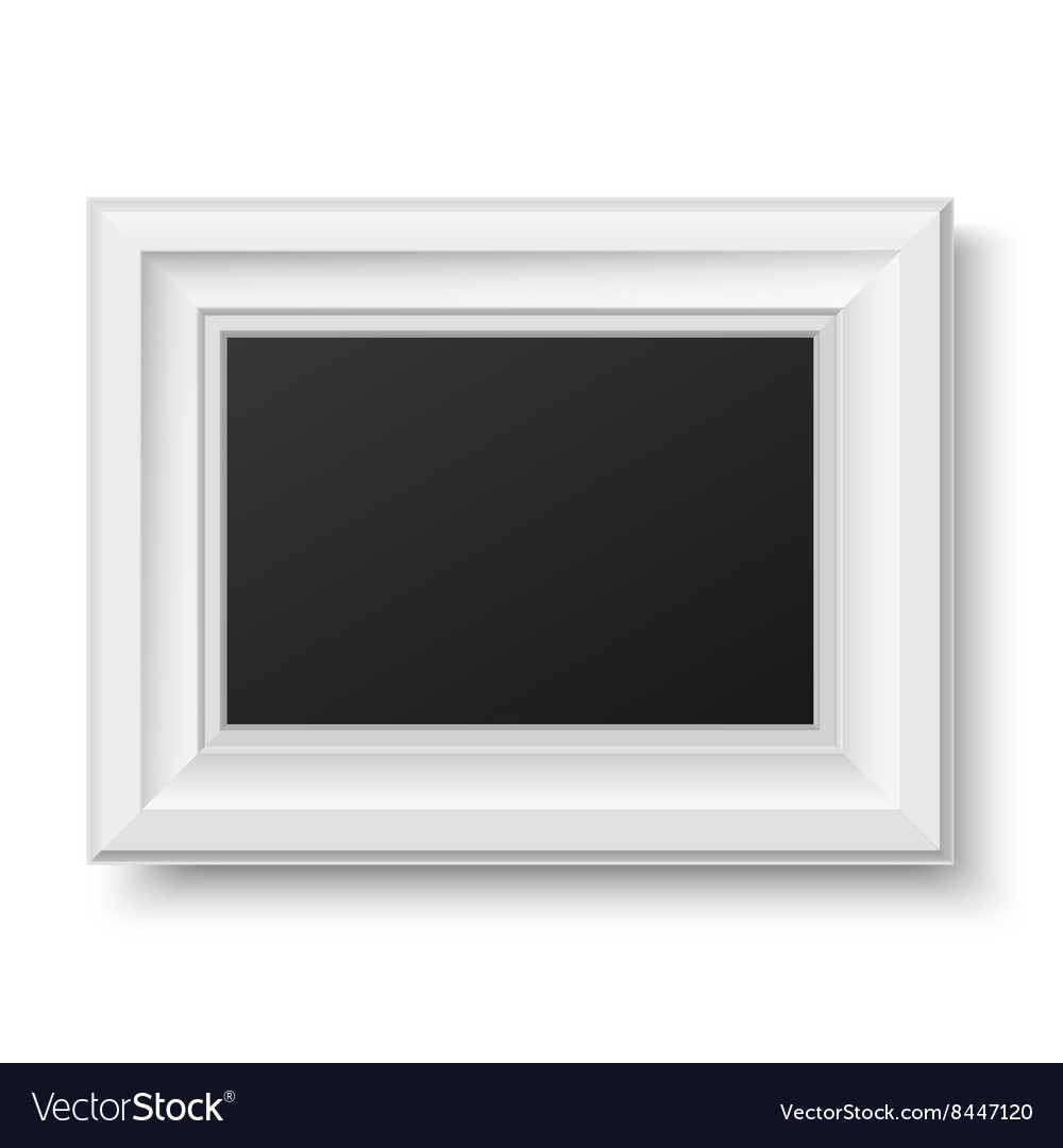 White wooden frame for picture or text