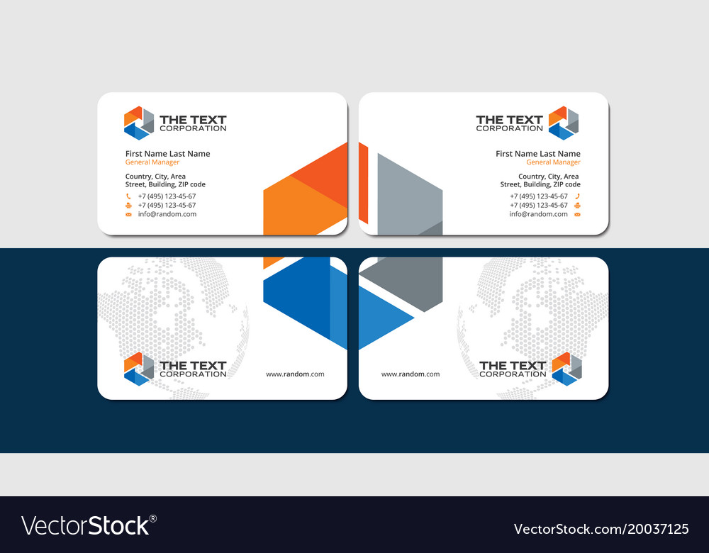 construction and engineering business cards vector image