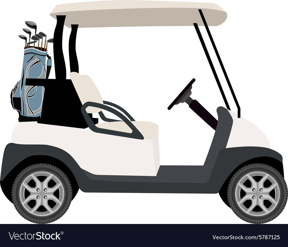 Golf cart vector image