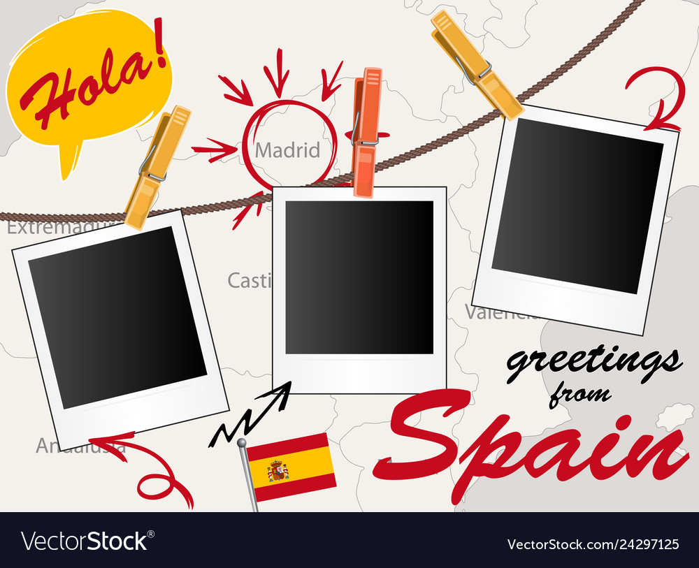 Greeting card with spain