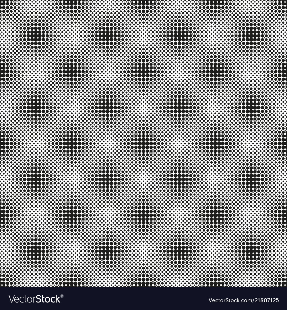 Halftone seamless pattern with dotted circles