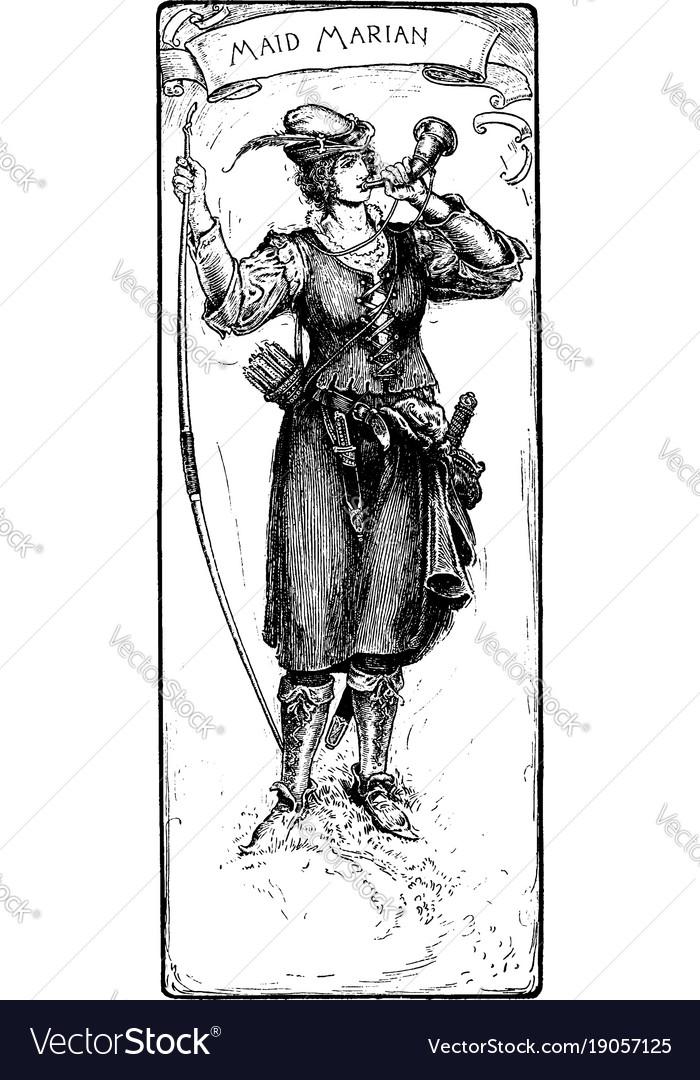Maid marian vintage vector image