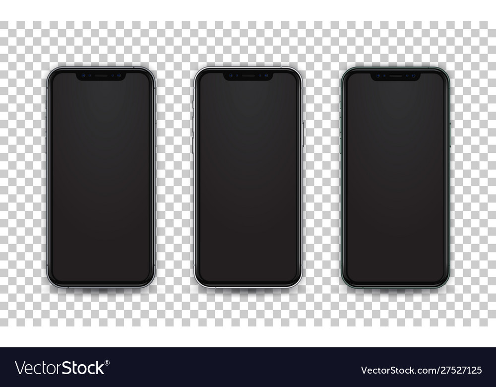 Mobile template white green and space gray color
