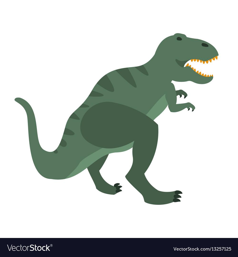 t rex dinosaur of jurassic period prehistoric vector image rh vectorstock com t rex skull vector t-rex vector download