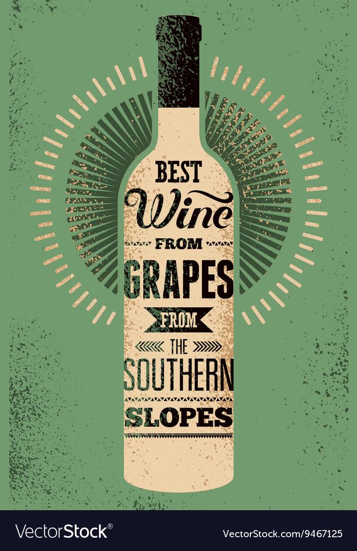 Typographic retro grunge wine poster