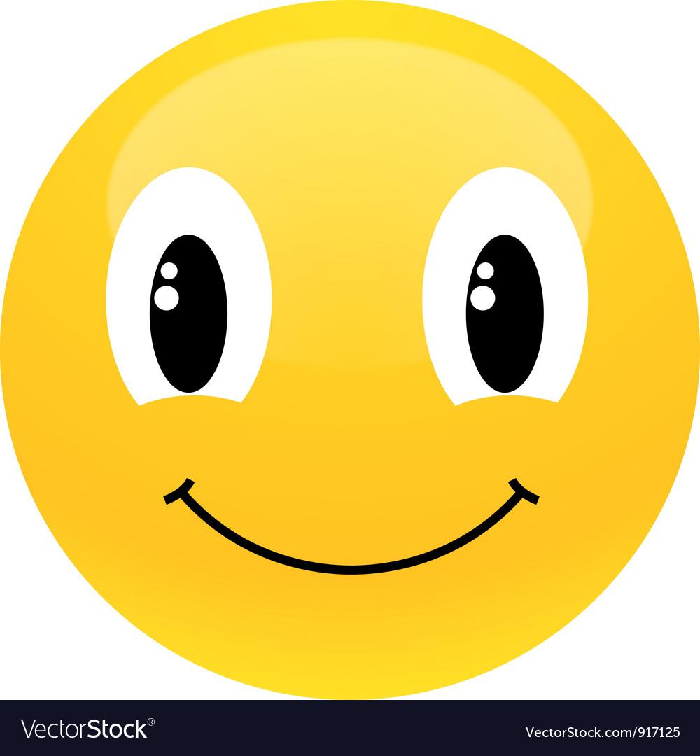 yellow smiley royalty free vector image vectorstock rh vectorstock com smiley vector icon smiley vector gratuit