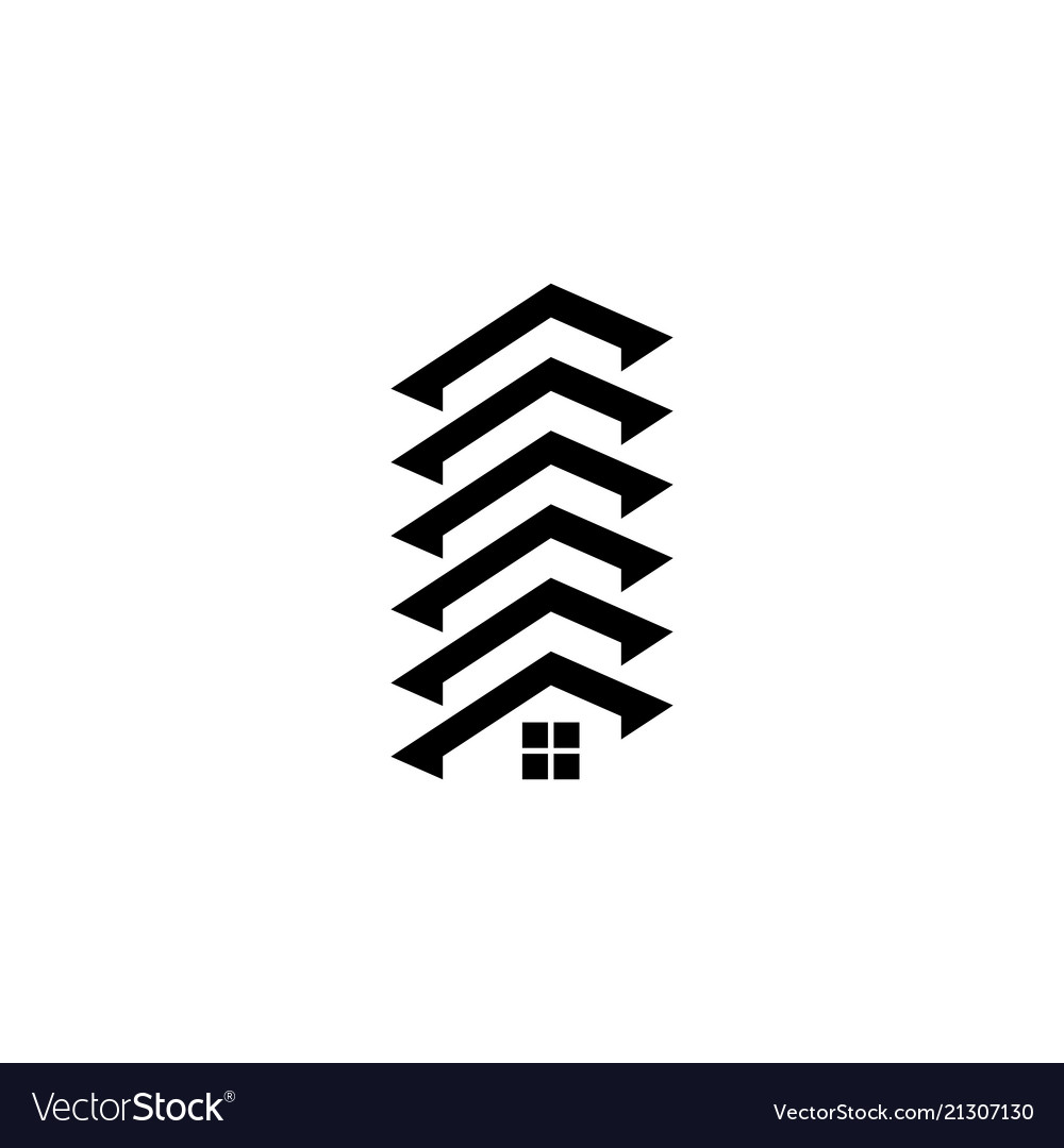 Abstract roof house building logo