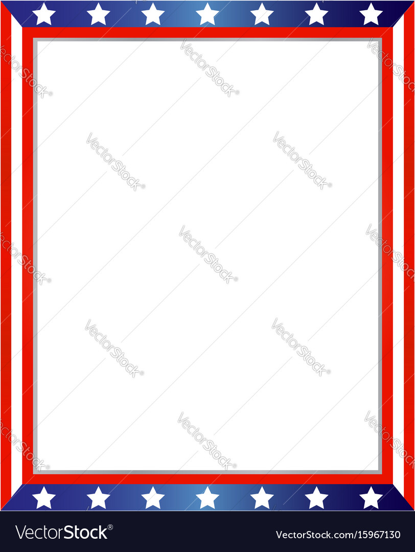 American flag decorative border