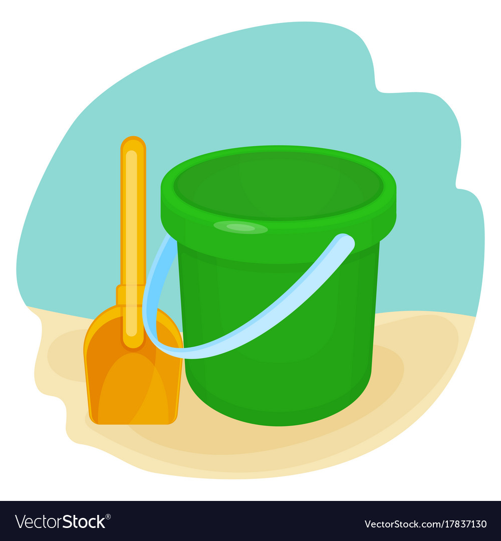 Bucket and spade put together on
