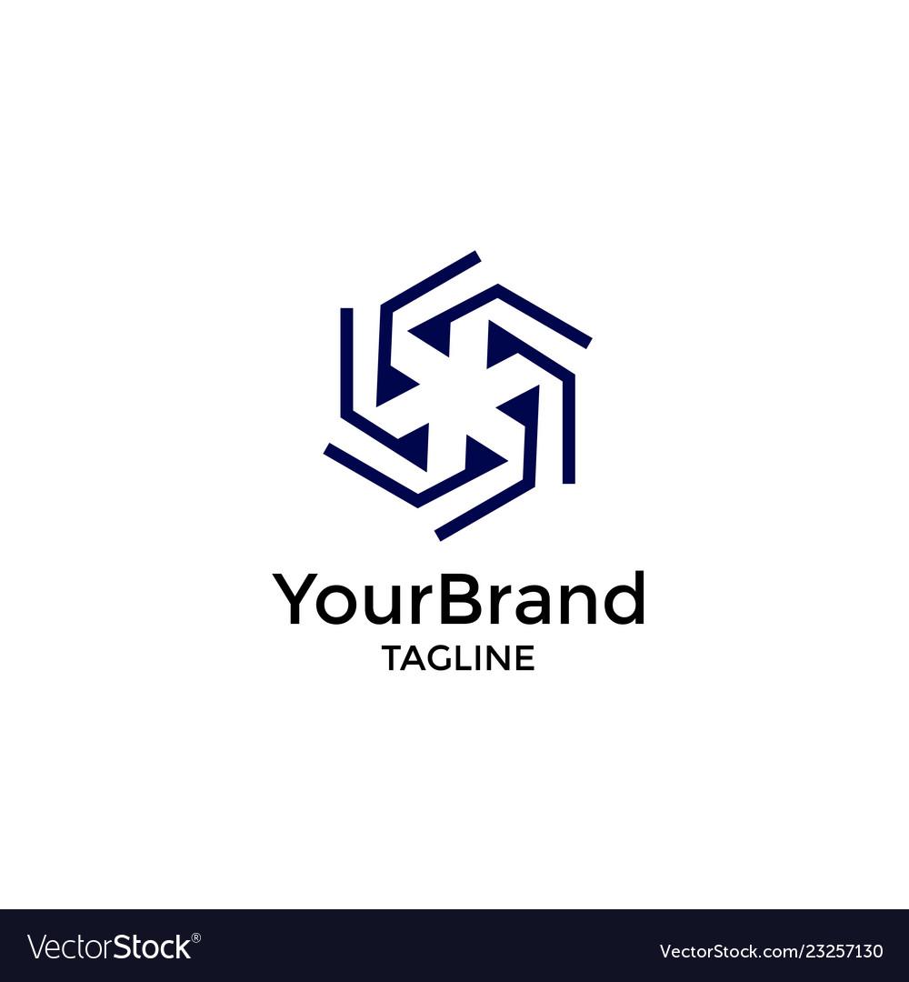 Modern geometry logo template