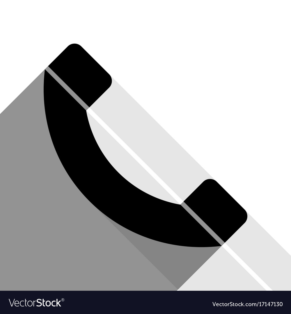 Phone sign black icon with