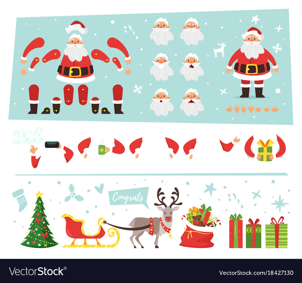 Santa claus for animation