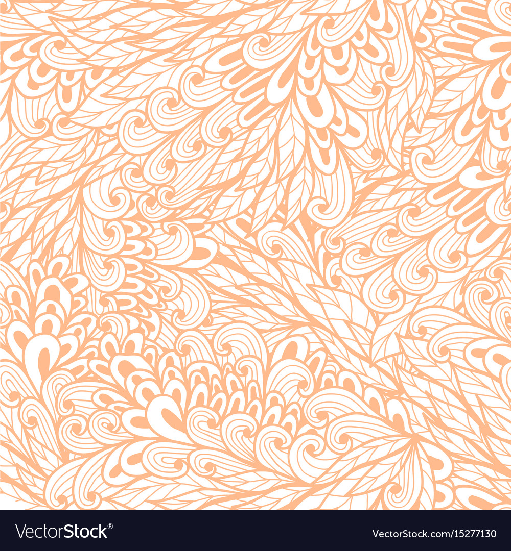 Seamless floral monochrome pink doodle pattern