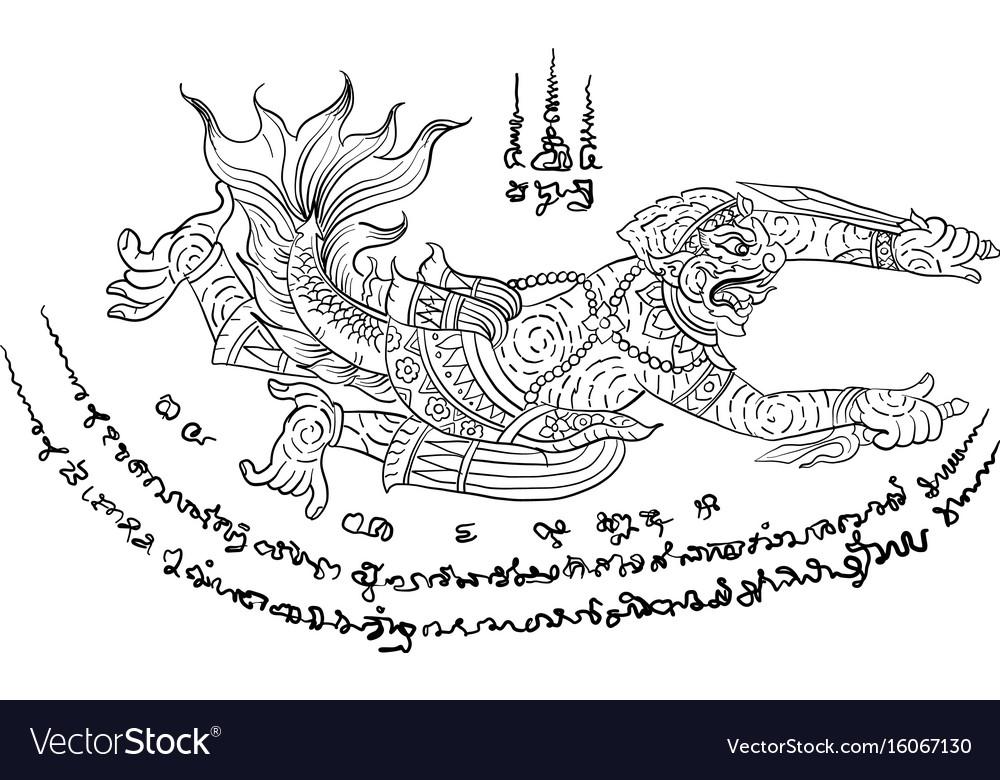 Thai yantra tattoo