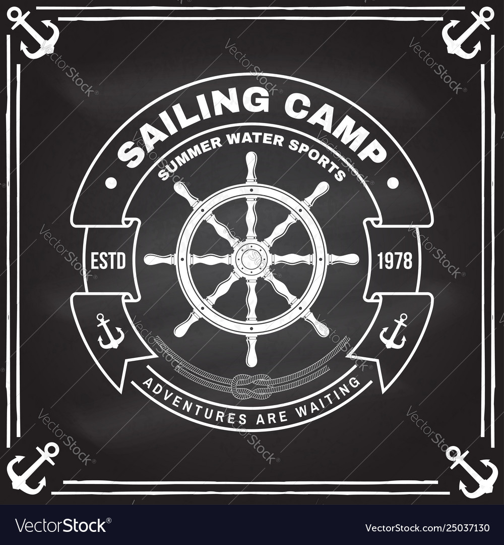 Yacht club badge concept for shirt print