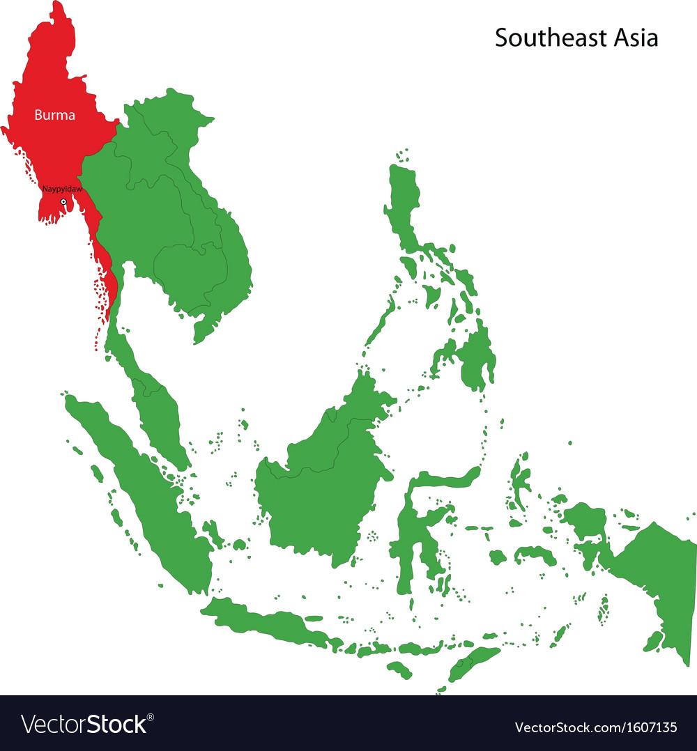 Burma map vector image