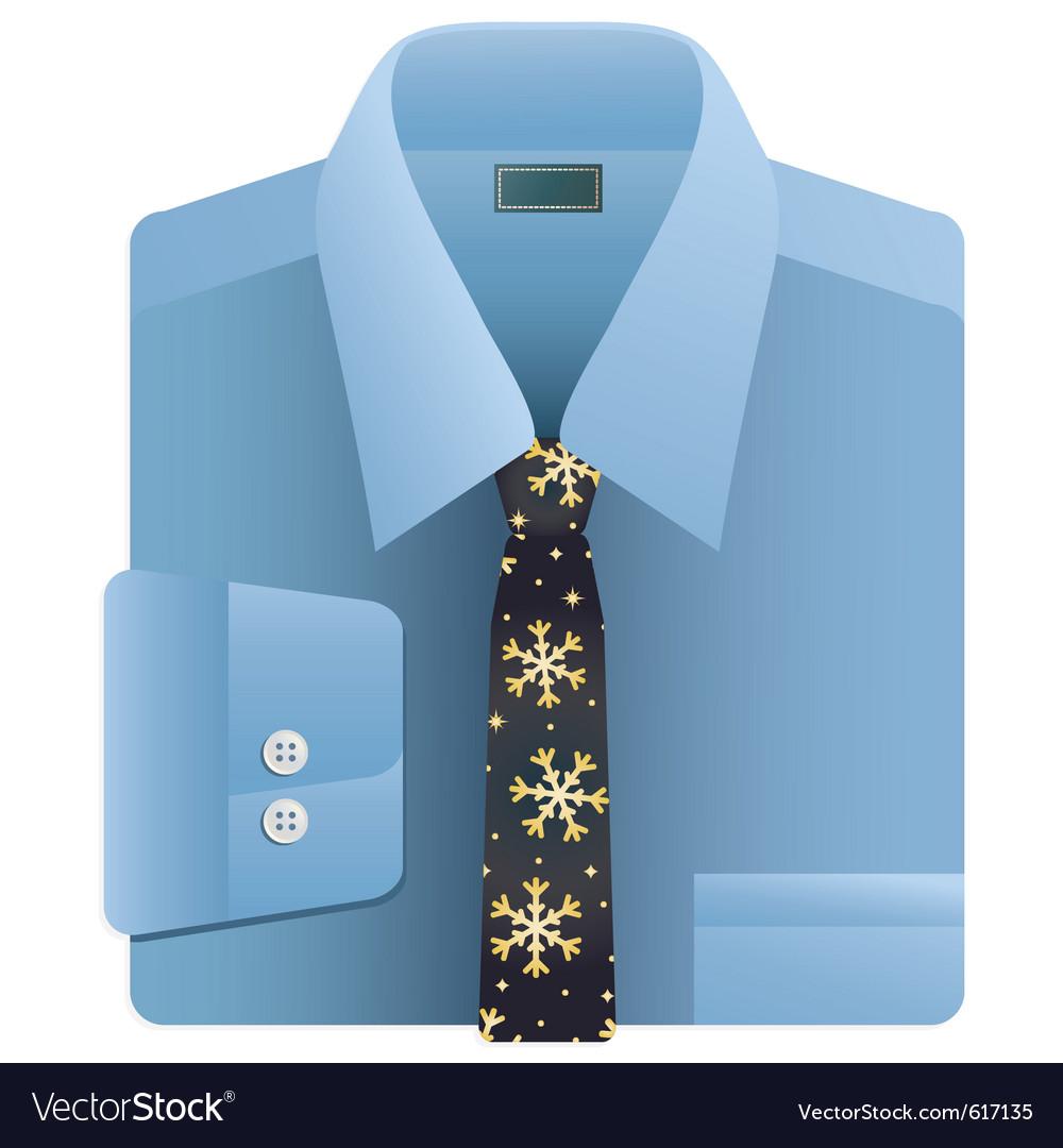 Christmas snowflake tie vector image