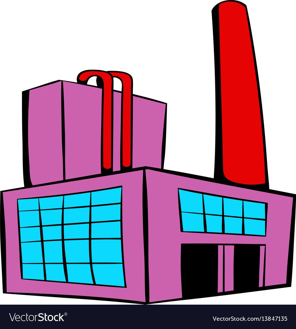 Factory building icon icon cartoon vector image