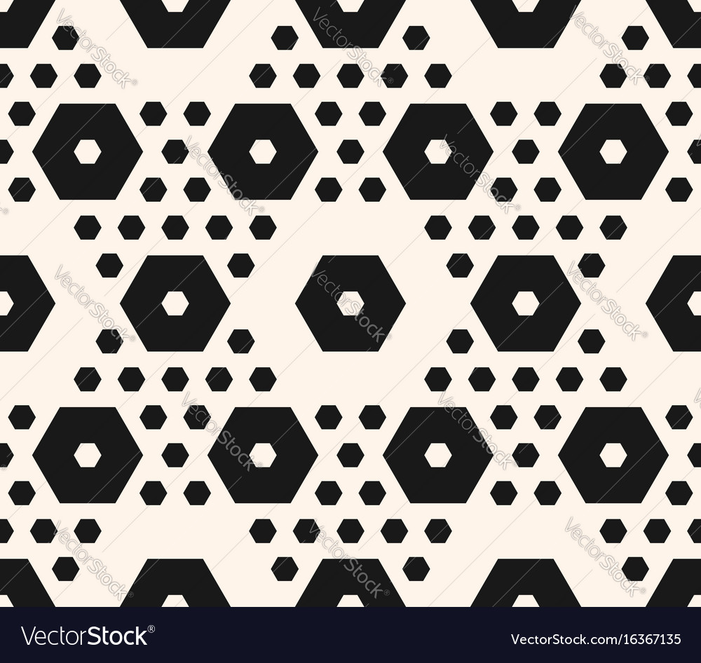 Geometric seamless pattern hexagons texture vector image