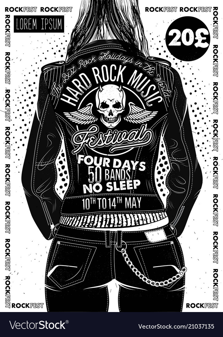 Hard rock festival poster