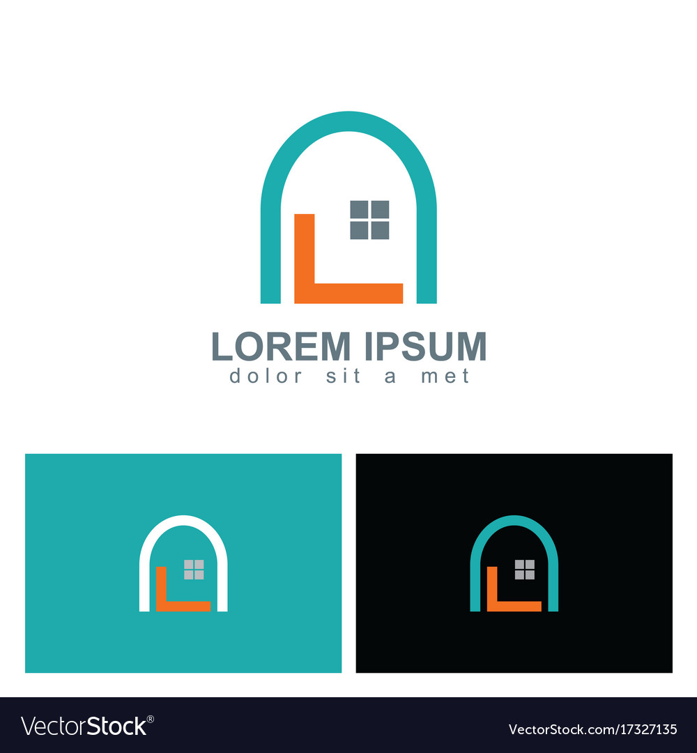 Home design window logo vector image