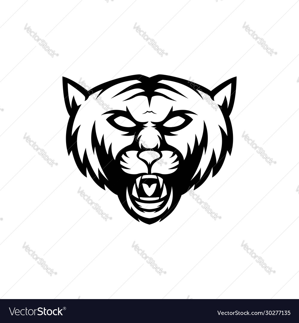 Simple wild cat logo