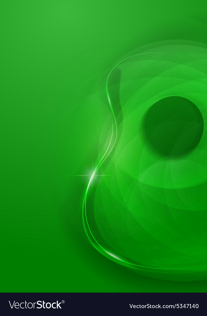 Abstract Guitar Green Background