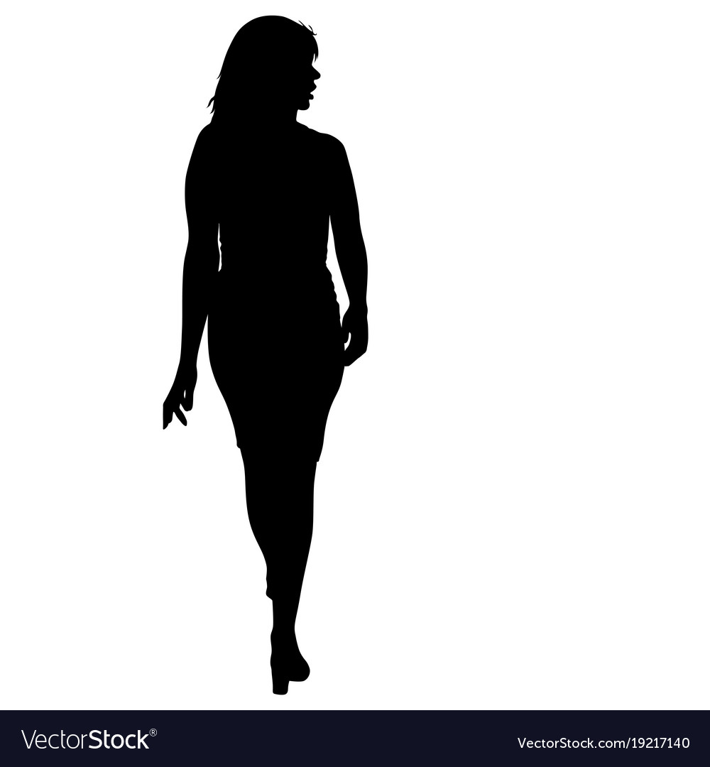 2019 year look- Standing Woman silhouette